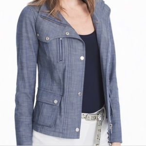 White House Black Market Chambray Jacket